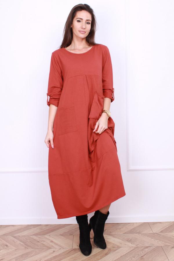 Sukienka bawełniana z kieszeniami 7