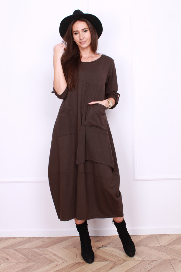 Sukienka bawełniana z kieszeniami 9