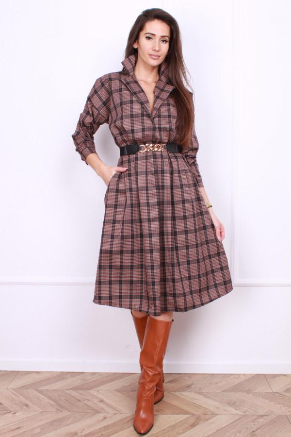 Sukienka w szkocką kratę 3