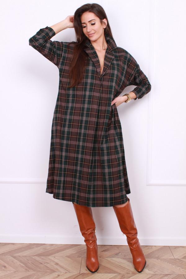 Sukienka w szkocką kratę 5