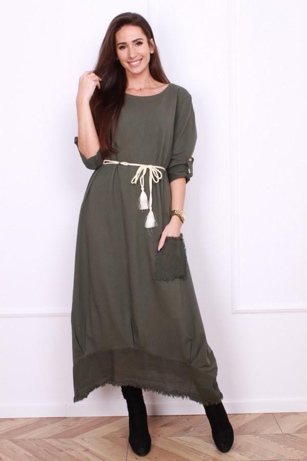 Sukienka bawełniana ze sznurkiem